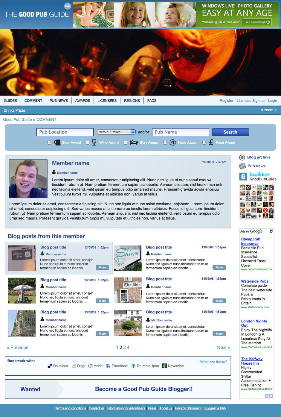 Good Pub Guide Blog Members Page Visual
